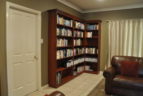 Library Units In WA Jarrah   Custom Made To Fit The Room And Fitted To The