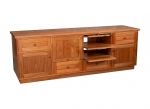 EU 66 - All our Entertainment Units can be customized in size to suit your individual room. They can be made with a variety of solid timbers including Tasmanian Blackwood, Blue Gum, Tasmanian Oak, Jarrah, Blackbutt and many more. Give us a call with your requirements for an obligation free quote.
