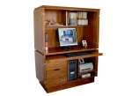 Kapell Computer Armoire - NG Rosewood - 1230(w) x 570(d) x 1600(h)