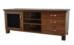 EU 126 - All our Entertainment Units can be customized in size to suit your individual room. They can be made with a variety of solid timbers including Tasmanian Blackwood, Blue Gum, Tasmanian Oak, Jarrah, Blackbutt and many more. Give us a call with your requirements for an obligation free quote.