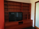 EU 137 - All our Entertainment Units can be customized in size to suit your individual room. They can be made with a variety of solid timbers including Tasmanian Blackwood, Blue Gum, Tasmanian Oak, Jarrah, Blackbutt and many more. Give us a call with your requirements for an obligation free quote.