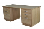 Kapell Pedestal Desk No 4 - All our Pedestal Desks can be custom built to your exact requirements, in a wide range of timbers or stained to match. All desk's come with soft close drawer runners as standard. Custom sizes available to suit your requirements.